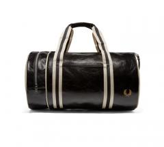 Fred Perry Classic Barrel Bag Black / Ecru