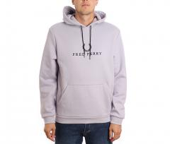 Fred Perry Embroidered Hooded Sweatshirt Fresh Lilac