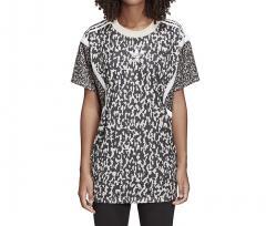 Adidas Womens Leoflage Oversize Trefoil Tee