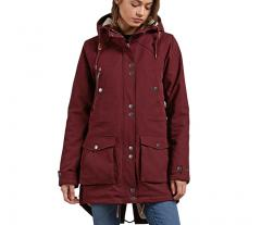 Volcom Womens Walk On By Parka Burgundy