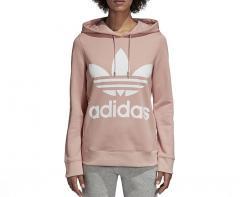 Adidas Womens Trefoil Hoodie Pink Spirit