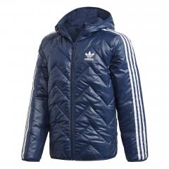 Adidas Junior Trefoil Midseason Jacket Collegiate Navy / White