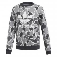 Adidas Junior Trefoil Crew Sweatshirt Camo