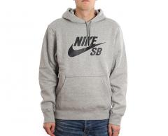 Nike SB Icon Hoodie Dark Grey Heather / Black