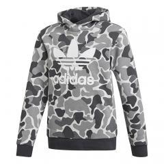 Adidas Junior Camo Trefoil Hoodie Carbon