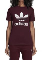 Adidas Womens Trefoil Tee Maroon