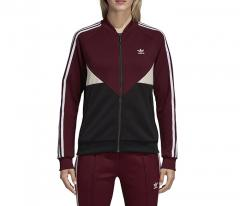 Adidas Womens CLRDO SST Track Jacket Maroon