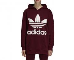 Adidas Womens Oversize Trefoil Hoodie Maroon