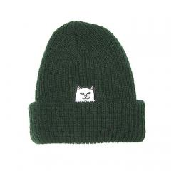 RIPNDIP Lord Nermal Rib Beanie Hunter Green