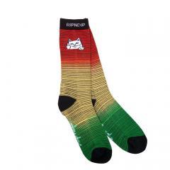 RIPNDIP Peeking Nerm Socks Rasta Dye
