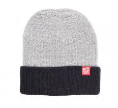 Happy Hour Two Tone Beanie Heather Grey / Navy