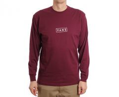 Vans Easy Box Longsleeve Tee Burgundy / White