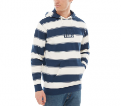 Vans Tall Box Stripe Pullover Hoodie Dress Blues / Natural