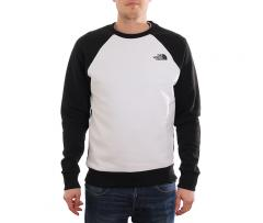 The North Face Raglan Red Box Crew TNF White / TNF Black