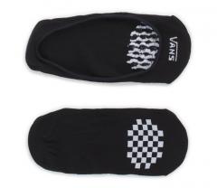 Vans Girly No Show Socks 2-Pack Black / White