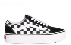 f86b329c7251 Vans Old Skool Platform Checkerboard Black   White