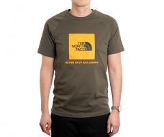 The North Face S/S Rag Red Box Tee New Taupe