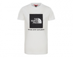 The North Face Youth Box S/S Tee White