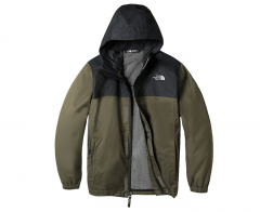 The North Youth Resolve Reflective Jacket New Taupe Green