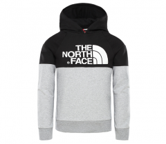 The North Face Youth Drew Peak Raglan Hoodie TNF Light Grey Heather 79d1f36e1d