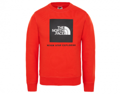 The North Face Youth Box Crew Fiery Red