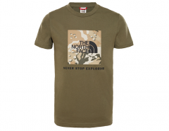 The North Face Youth Box S/S Tee New Taupe Green / Desert Youth