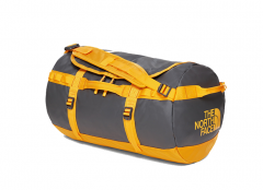 The North Face Base Camp Duffel Small Asphalt Grey / Zinnia Orange
