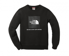 The North Face Youth Box Drew Peak Crew TNF Black / TNF Black