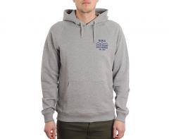 Makia Civil Backprint Hoodie Grey