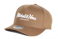 6bfb0fb972046 Mitchell & Ness Pinscript 110 Snapback Chocolate