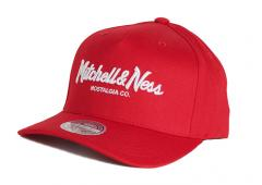 Mitchell & Ness Pinscript 110 Snapback Red