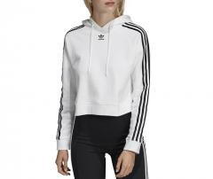 Adidas Womens Cropped Hoodie White