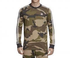Adidas Camouflage LS Tee Multicolor / Utility Black