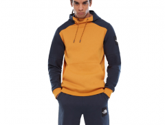 The North Face Fine Box Hoodie Citrine Yellow / Urban Navy