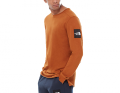 The North Face Fine 2 Longsleeve Tee Caramel Cafe