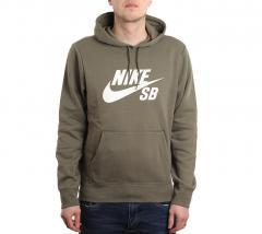Nike SB Icon Hoodie Medium Olive / White