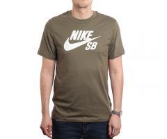 Nike SB Logo Tee Medium Olive / White