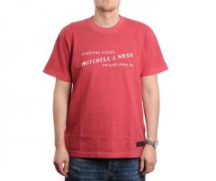 Mitchell & Ness Label Tee Red