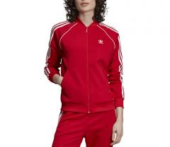 Adidas Womens SST Track Jacket Scarlet Red
