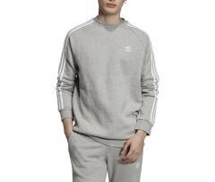 Adidas Originals 3 Stripes Crewneck Sweatshirt Medium Grey Heather