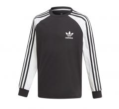 Adidas Youth 3 Stripes Longsleeve Tee Black / White
