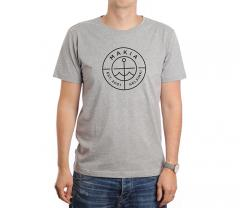 Makia Scope Tee Grey