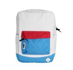 Mon Mon Premium Backpack Off White / Blue / Red
