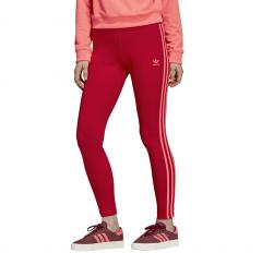 Adidas Originals Womens 3 Stripes Leggings Scarlet
