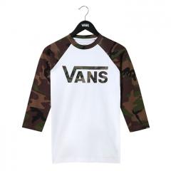 Vans Youth Classic Raglan White / Camo
