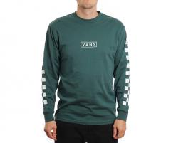 Vans Easy Box Checker Longsleeve Tee Trekking Green