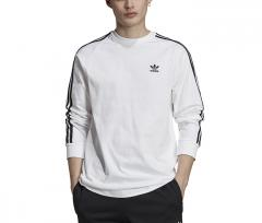 Adidas Originals 3 Stripes LS Tee White