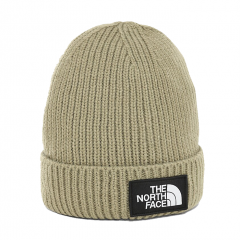 The North Face TNF Logo Box Cuffed Beanie Twill Beige
