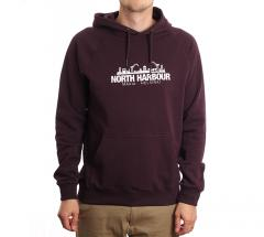 Makia Silhouette Hooded Sweatshirt Wine