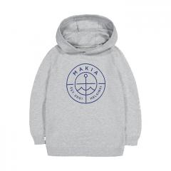 Makia Kids Scope Hooded Sweatshirt Light Grey